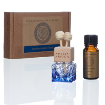 Car Perfume & Refill bottle. Mediterranean Forest - Rosemary & Sage Aromatherapy