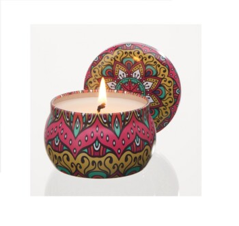 Aromatherapy Essential Oil Tin Candles
